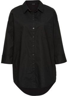 Рубашка оверсайз (черный) Bonprix