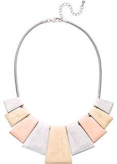 Трехцветное колье (серебристый/золотистый/розово-золотистый) Bonprix