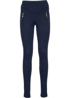Трикотажные стрейтчевые брюки (темно-синий) Bonprix
