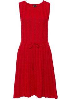Вязаное платье (красный) Bonprix