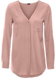 Блузка с длинным рукавом (розовый) Bonprix