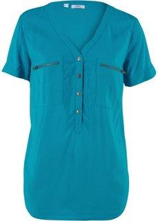 Блузка с коротким рукавом (темно-бирюзовый) Bonprix