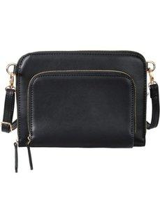 Сумка с карманом (черный) Bonprix