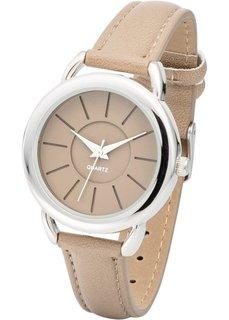 Наручные часы (серо-коричневый/серебристый) Bonprix