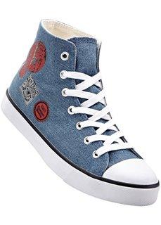 Высокие кеды (синий джинсовый) Bonprix