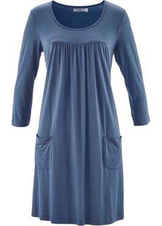 Трикотажное платье с рукавами 3/4 (индиго) Bonprix
