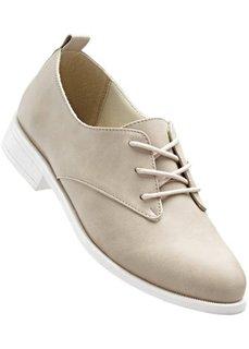 Туфли на шнуровке (песочный) Bonprix