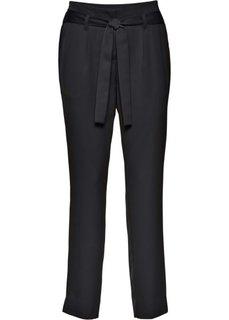 Сатиновые брюки (черный) Bonprix