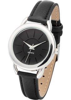 Наручные часы (черный/серебристый) Bonprix