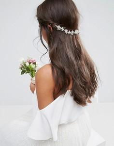 Украшение для волос с цветами ASOS WEDDING - Прозрачный