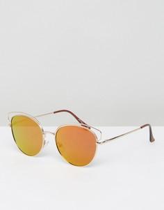 Тонированные солнцезащитные очки в золотистой оправе Jeepers Peepers - Золотой
