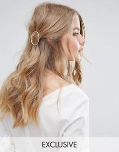 Фактурная заколка для волос с кольцом Orelia - Золотой