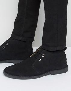Ben Sherman Mocam Desert Boots In Black Suede - Черный