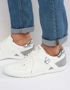 Белые кроссовки с перфорацией Versace Jeans - Белый