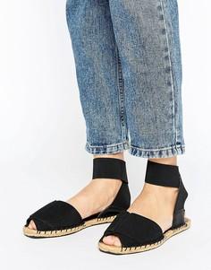 Сандалии с ремешком вокруг щиколотки и открытым носком ALDO - Черный