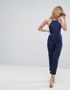Комбинезон с халтером и открытой спиной Unique21 - Темно-синий