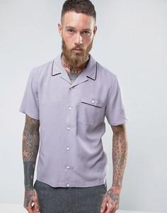 Фиолетовая классическая рубашка из вискозы с отложным воротником ASOS - Фиолетовый