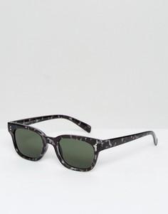 Серые черепаховые солнцезащитные очки в квадратной оправе AJ Morgan - Серый