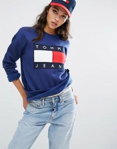 Свитшот с логотипом Tommy Jeans - Синий