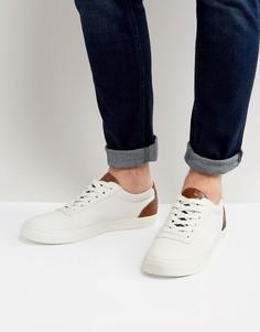Белые кроссовки со светло-коричневой отделкой ASOS - Белый