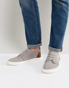 Серые туфли в стиле casual из искусственной замши ASOS - Серый