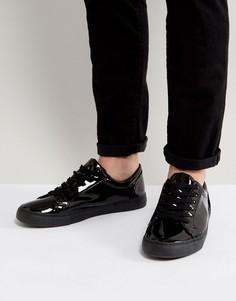 Лакированные черные кроссовки ASOS - Черный