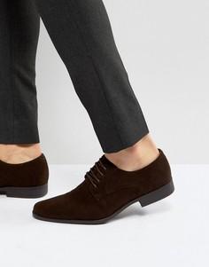 Туфли дерби из искусственной замши ASOS - Коричневый