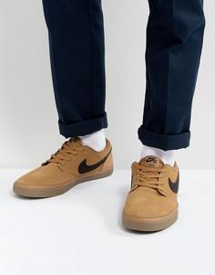 Бежевые кроссовки Nike SB Portmore 880266-209 - Бежевый