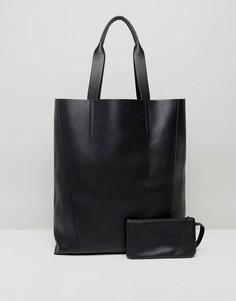 Сумка-шоппер в стиле oversize ASOS - Черный