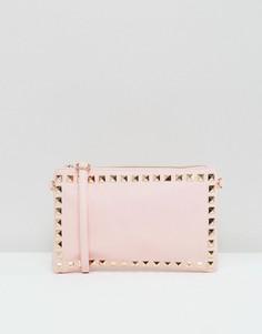 Клатч с отделкой заклепками Yoki Fashion - Розовый