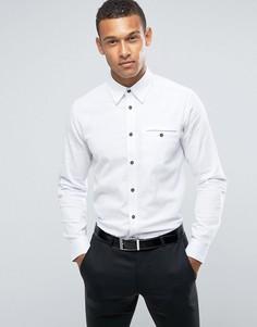 Фактурная приталенная рубашка Ted Baker - Белый