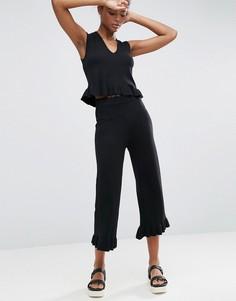 Юбка-шорты с оборкой ASOS - Черный