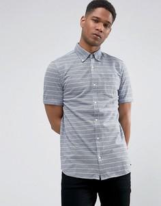Облегающая рубашка в полоску с короткими рукавами Jack & Jones - Темно-синий