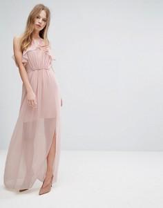 Розовое платье макси с оборками BCBGeneration - Розовый