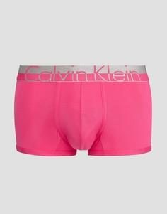 Боксеры-брифы с заниженной талией из микрофибры Calvin Klein - Розовый