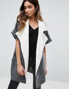 Куртка с контрастными лацканами Vila - Серый