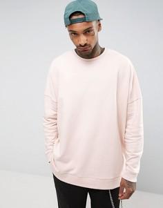 Розовый оversize-свитшот ASOS - Розовый