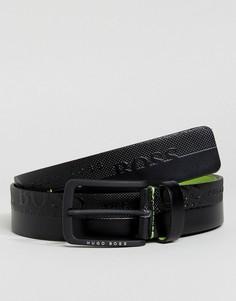 Черный ремень с логотипом BOSS Green by Hugo Boss - Черный