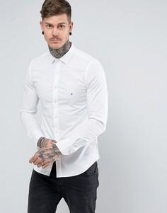 Приталенная эластичная рубашка из поплина Replay - Белый
