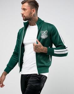 Спортивная куртка с полосками на рукавах Replay - Зеленый