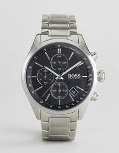 Серебристые наручные часы-хронограф BOSS By Hugo Boss 1513477 - Серебряный