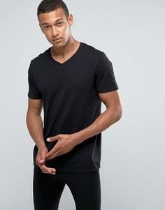Черная футболка с V-образным вырезом Burton Menswear - Черный