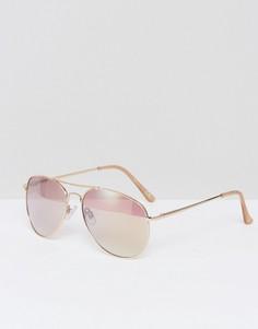 Розовые солнцезащитные очки-авиаторы Missguided - Розовый