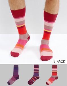 Набор из 3 пар красных носков в полоску Paul Smith - Красный