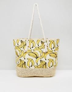 Пляжная сумка с бананами New Look - Желтый