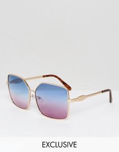 Солнцезащитные очки с сине-розовыми стеклами AJ Morgan эксклюзивно для ASOS - Синий