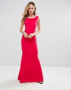 Платье-бандо макси с юбкой-годе City Goddess - Розовый