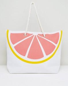 Розовая пляжная сумка в форме грейпфрута South Beach - Мульти