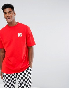 Красная свободная футболка ASOS x MTV - Красный