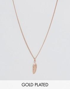 Ожерелье с подвеской-пером Simon Carter - Золотой
